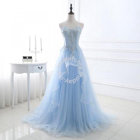 3b8b7208a1 Blue dinner prom dress wedding bridal gown RB0109 - Wedding for sale in Johor  Bahru