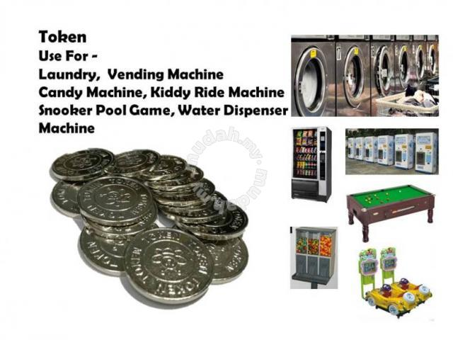 Coin Token Laundry / Dobi / Vending Machine / Game - Professional/Business  Equipment for sale in Puchong, Selangor