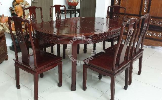 Mudah & Chinese antique rosewood 6 seater dining table SLG - Hobby \u0026 Collectibles for sale in Kajang Selangor