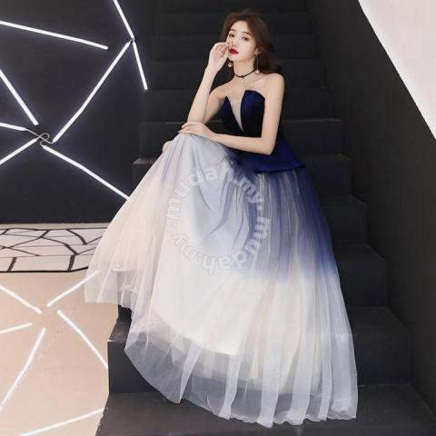 4975e22cdf Ombre prom wedding gown dress black blue RBP0794 - Clothes for ...
