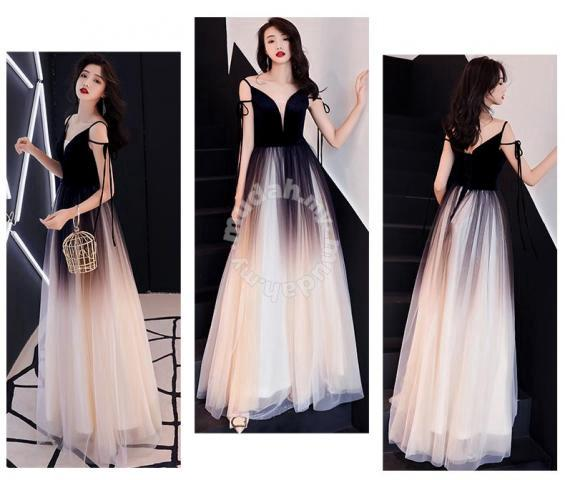 c222ca0d64 Ombre prom wedding gown dress black blue red RBP07 - Clothes for ...