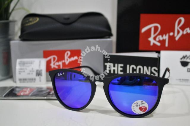 083da05a7a7f3 Authentic Ray Ban Erika 601 55 54MM Blue Polarized - Watches ...