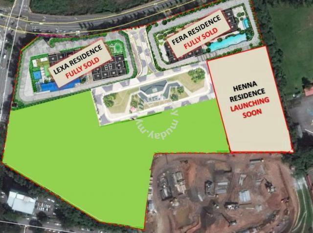Henna Residence In Wangsa Maju Freehold 800meter To Lrt