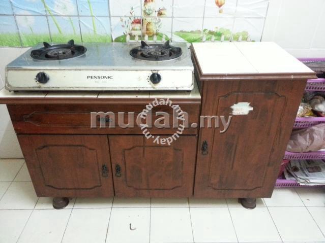 Kabinet dapur gas dan dapur gas - Image