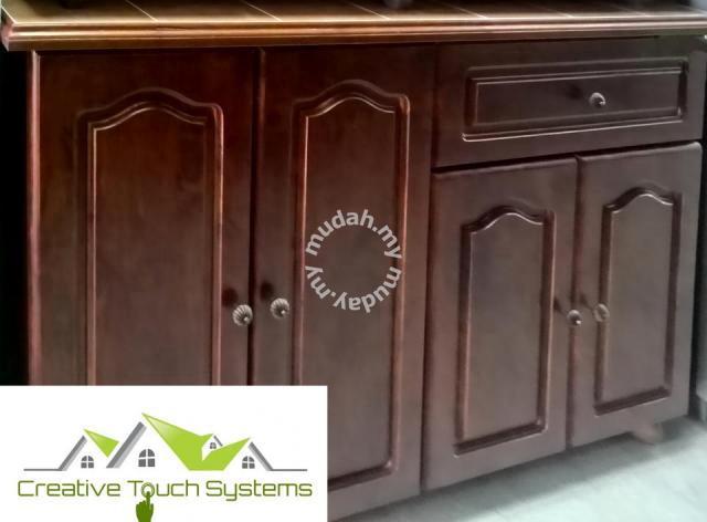 Kabinet Dapur Kayu Baiki Custom Made Baru Furniture Decoration For In Bayan Penang