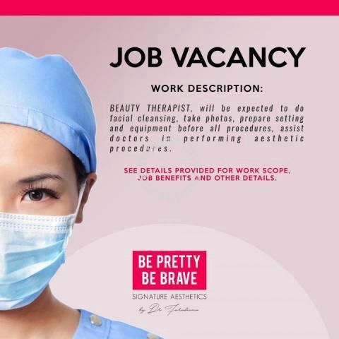 Beauty therapist - Jobs available in Taman TTDI Jaya, Selangor