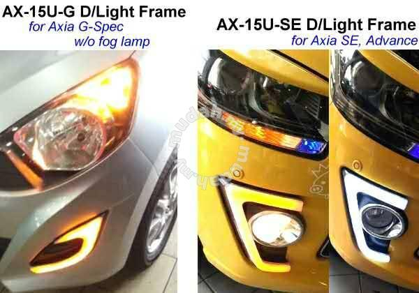 PERODUA AXIA EGSE Spec In DRL And Signal Car Accessories - Car signal light