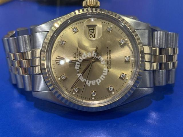 Rolex Datejust Ref 16013 Diamond Dial Watches Fashion Accessories For Sale In Butterworth Penang