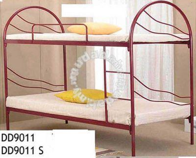 Double Decker Metal Bunk Bed Hostel Asrama - Furniture & Decoration ...