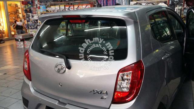 NEW Perodua axia OEM spoiler with paint & light - Car