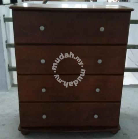 Solid Wood Chest Drawer L89 X D48 H106 Cm M74 S Furniture
