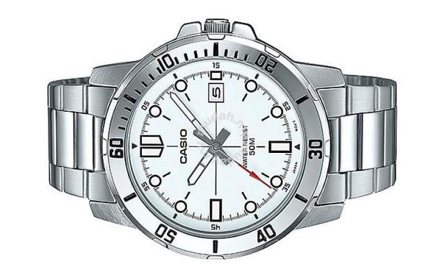 56a017b1b Casio Men Stainless Steel Date Watch MTP-VD01D-7E - Watches ...