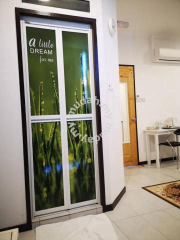 Bi Fold Door Pintu Bilik Air Aluminium