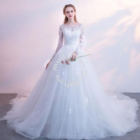 ca489fecd5 White wedding bridal prom ball gown dress RB0554 - Wedding for sale in Johor  Bahru