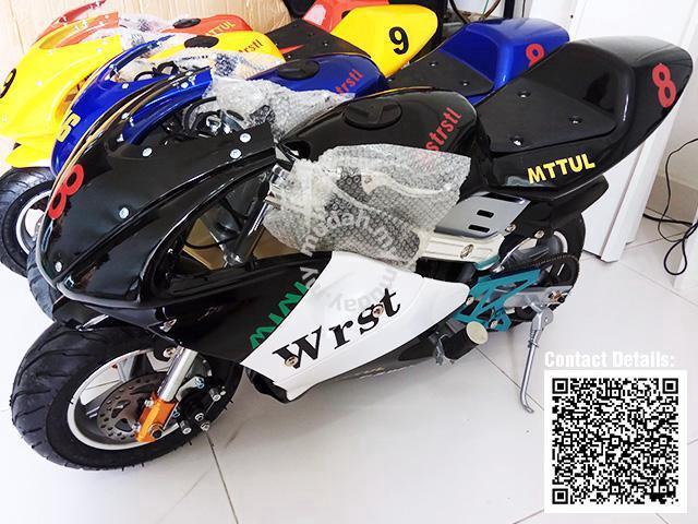 Pocket Bike – Mini Sport Bike 49cc Black White - Sports & Outdoors for sale  in Puchong, Selangor