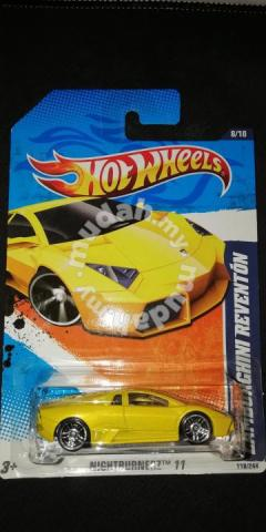 Hotwheels Lamborghini Reventon Yellow Hobby Collectibles For