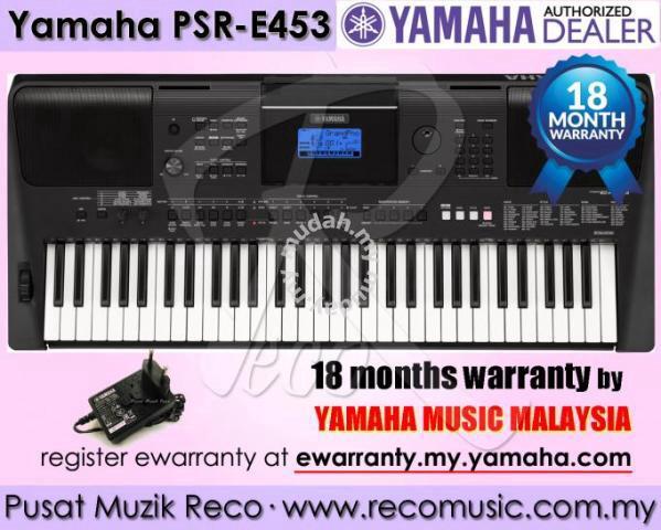 new yamaha psre453 psr e453 keyboard 20 of f er music. Black Bedroom Furniture Sets. Home Design Ideas