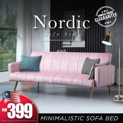 Nordic Minimalistic 3 Seater Sofa Bed Furniture Decoration For Sale In Balakong Selangor Mudah My