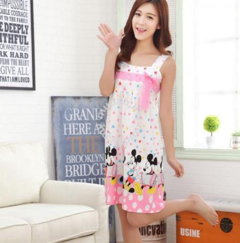 Mickey Pink Sling Dress Baju Tidur Pajamas - Clothes for sale in Kuchai Lama, Kuala Lumpur