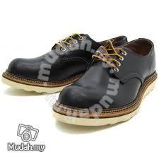 Work Shoe Red Wing Men Oxford Low Cut Black 8002 Shoes For