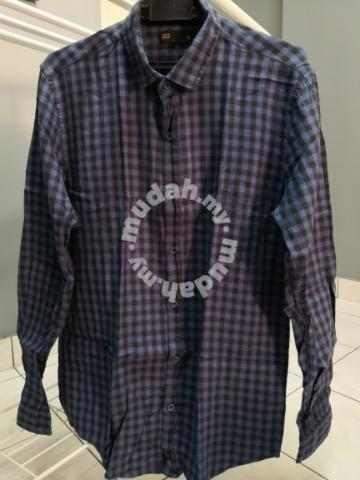 Seed Blue Checked Shirt - Clothes for sale in Cheras, Kuala Lumpur