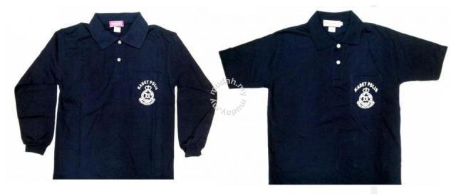 Baju T-Shirt Uniform Kadet Polis sekolah school sk ...