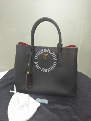 9f7a970d6b8c Prada Saffiano Cuir Double Medium Tote Bag - Bags & Wallets for ...