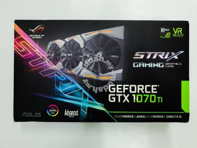 ASUS ROG Strix GeForce GTX 1070 Ti (used) - Computers & Accessories for  sale in Sibu, Sarawak