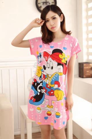 Mickey Pink Pajamas Nightdress Baju Tidur - Clothes for sale in Kuchai Lama, Kuala Lumpur