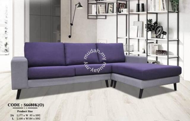 3 Seater L Shape Sofa M S6680k 29 7 Furniture Decoration For