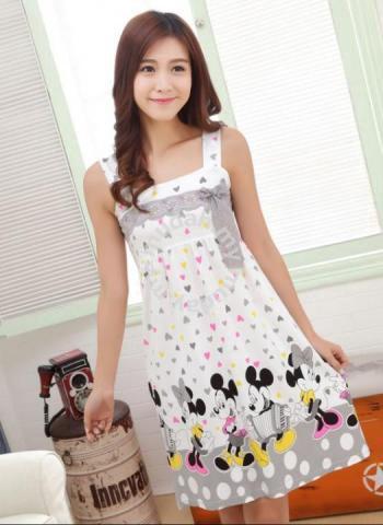 Mickey Grey Sling Dress Pajamas Baju Tidur - Clothes for sale in Kuchai Lama, Kuala Lumpur