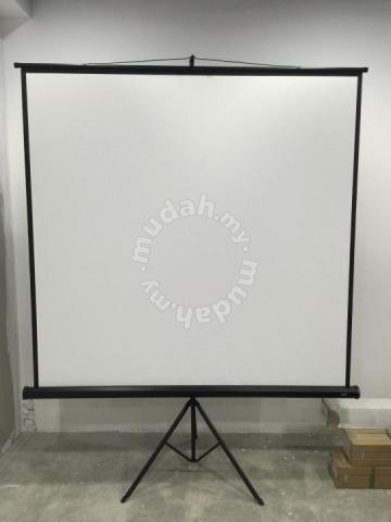 Quality Projector Screen Tripod 6ft x 6ft (6x6) - Professional/Business Equipment for sale in