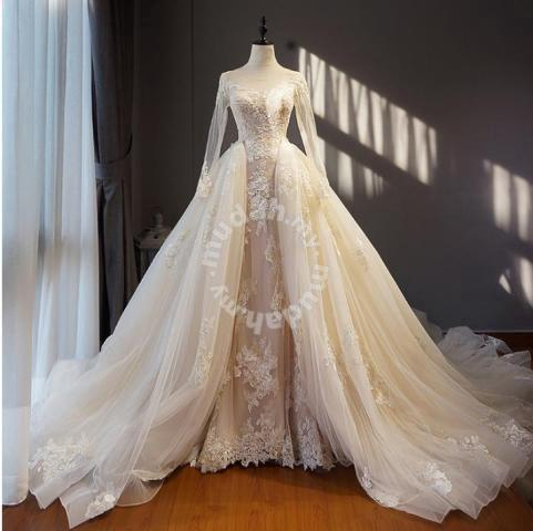 800edef466 White wedding bridal prom dress gown RB0474 - Wedding for sale in Johor  Bahru