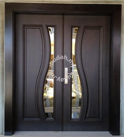 Pintu Kayu Cermin Depan Rumah Srd04