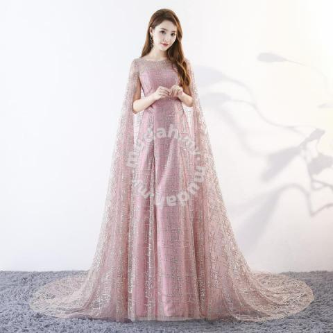47a51354 Pink glitter fishtail cape wedding dress RB0469 - Wedding for sale in ...
