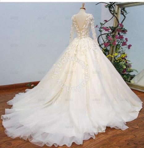 9022e266ad Cream wedding bridal prom dress gown RB0473 - Wedding for sale in Johor  Bahru
