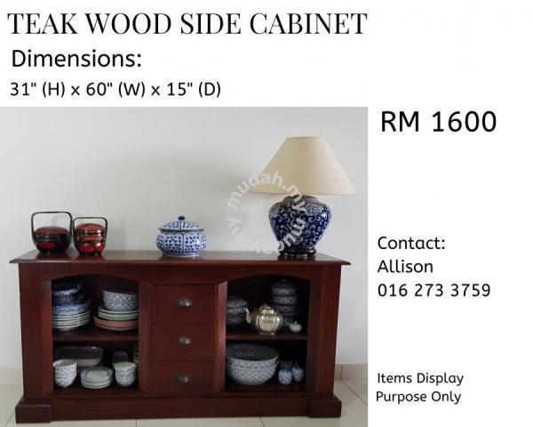 Teak Wood Side Cabinet