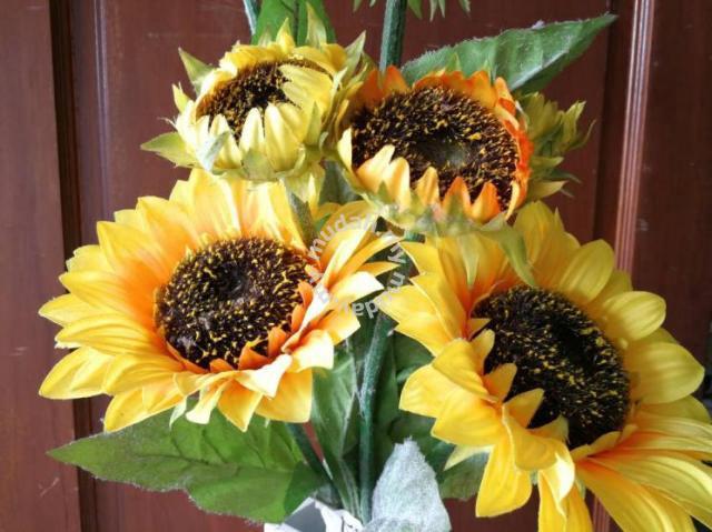 bunga palsu plastic artificial sun flower k42 v2