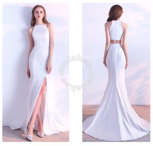 White Prom Dinner Wedding Dress Gown Rbp0117 Clothes For In Johor Bahru
