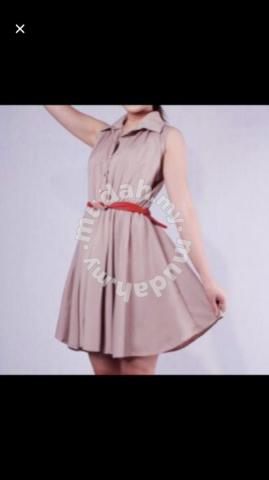 Sleeveless heart-shaped button dress - Clothes for sale in Gelugor, Penang