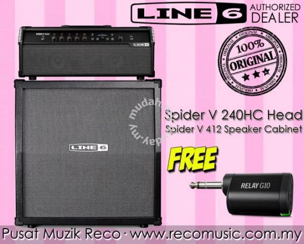 Line 6 Spider V 240HC Guitar Amp Head + Cab G10T - Music Instruments for  sale in Melaka Tengah, Melaka