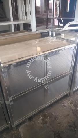 Kabinet Dapur Aluminium Dengan Marble Cantik Furniture Decoration For In Jitra Kedah