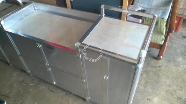Kabinet Dapur Masak Aluminium Marble