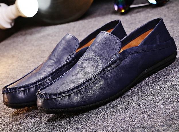 F0224 Dark Blue Loafers Slip On Kasut