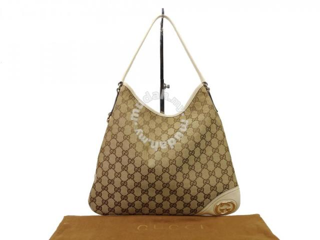 5a67f21b024 Gucci GG Canvas Britt Hobo Bag - Bags   Wallets for sale in Sri Petaling