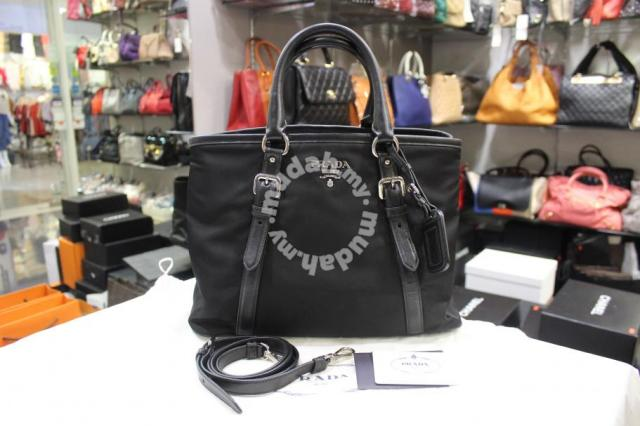 874ca7853427 ... where to buy prada bn2832 tessuto nylon top handle convertible bags  wallets for sale in bukit