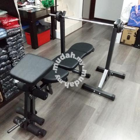 Adjustable Gym Bench With Squat Rack Combo Set
