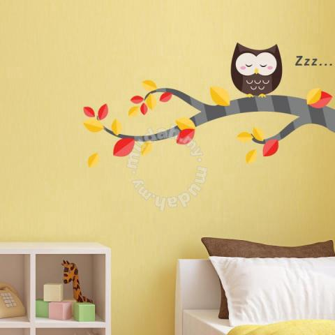 Walplus Sleeping Owl & Tree Branch Wall Sticker - Furniture ...