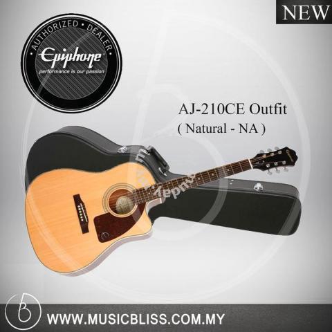 4bcd25874d8 Epiphone AJ-210CE Outfit Acoustic Guitar (Natural) - Music ...