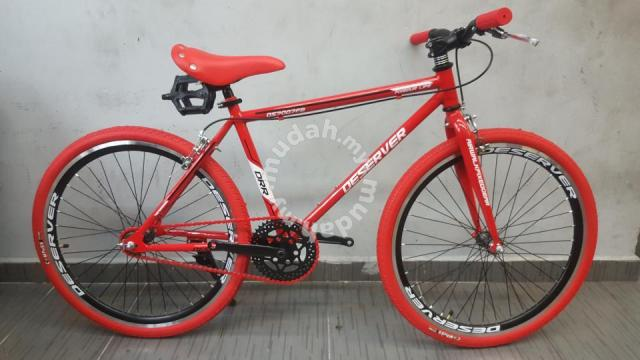 24 Inch Fixie Deserver Basikal Red Bicycle